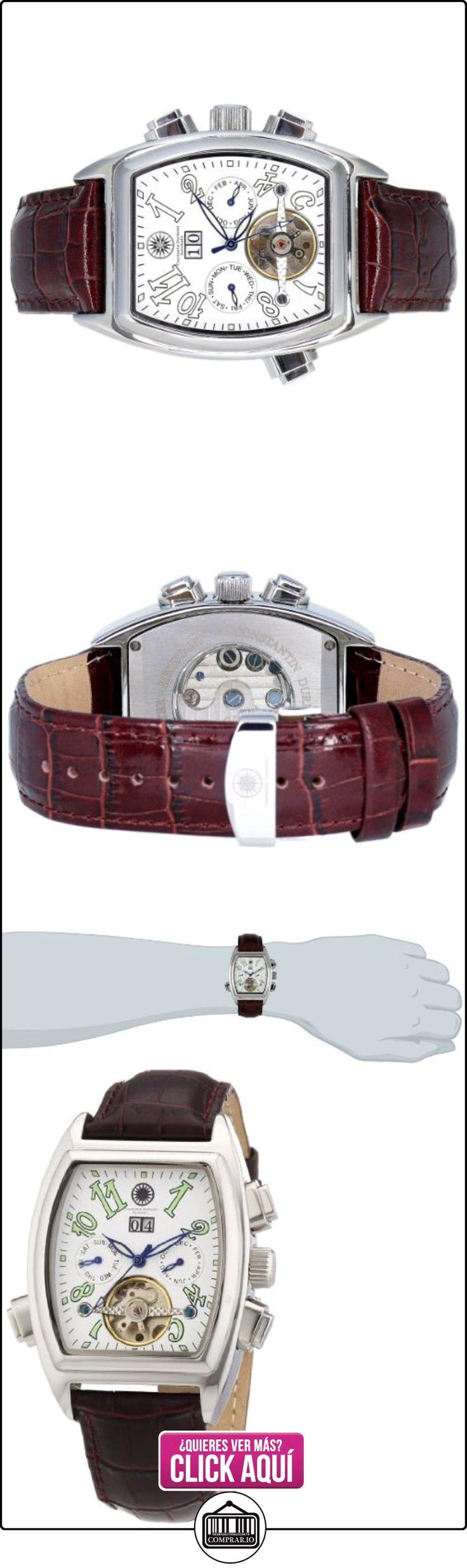 Constantin Durmont Tonneau - Reloj analógico de caballero automático con correa de piel marrón - sumergible a 30 metros  ✿ Relojes para hombre - (Gama media/alta) ✿ ▬► Ver oferta: http://comprar.io/goto/B005DKKCM8