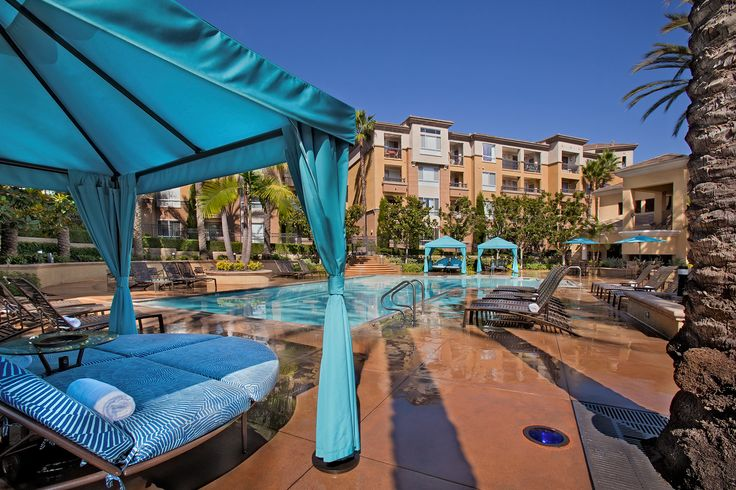 Resort-style pool at City Lights in Aliso Viejo, CA.