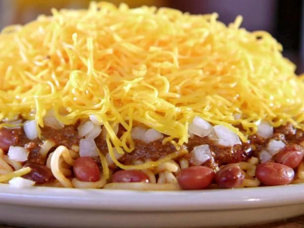 Get your game-day fare at one of Skyline Chili's locations. Try their best-selling Cheese Coney: a hot dog topped with mustard, their secret-recipe chili, onions and shredded cheese. If you're looking for an Ohio classic, try the specialty: a heap of the famous Cincinnati chili on top of spaghetti.