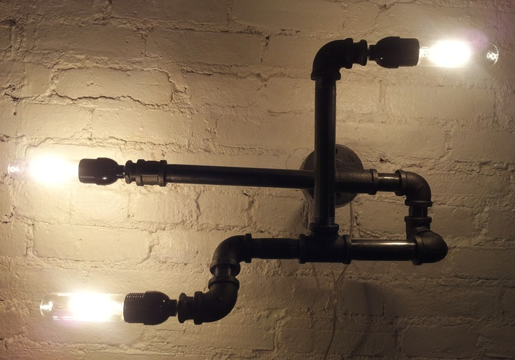 35 best images about industrial designed light fixtures on for Gas pipe lamp
