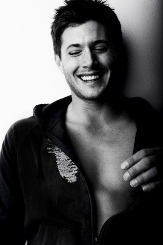 Beautiful Jensen Ackles who plays my buddy Dean Winchester on Supernatural. We would totally trade fart jokes and eat our way through a Las Vegas buffet. ~Elle