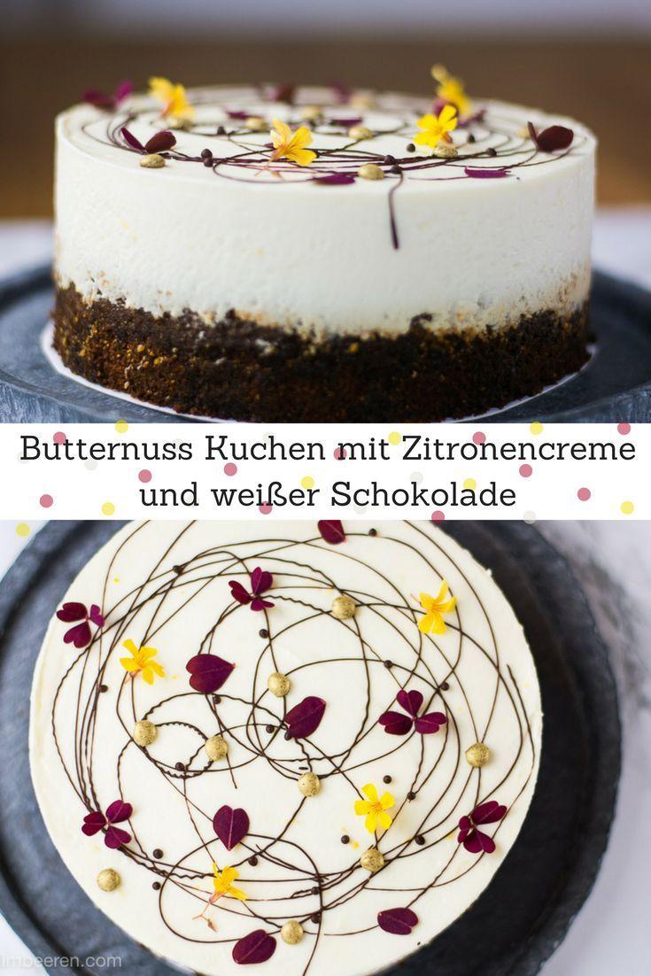 Saftiger Kuchen mit Butternusskürbis zu einer Prise Zimt, kombiniert mit einer leckeren Zitronencreme mit weißer Schokolade. Der perfekte Kuchen für den Herbst. via @heissehimbeeren