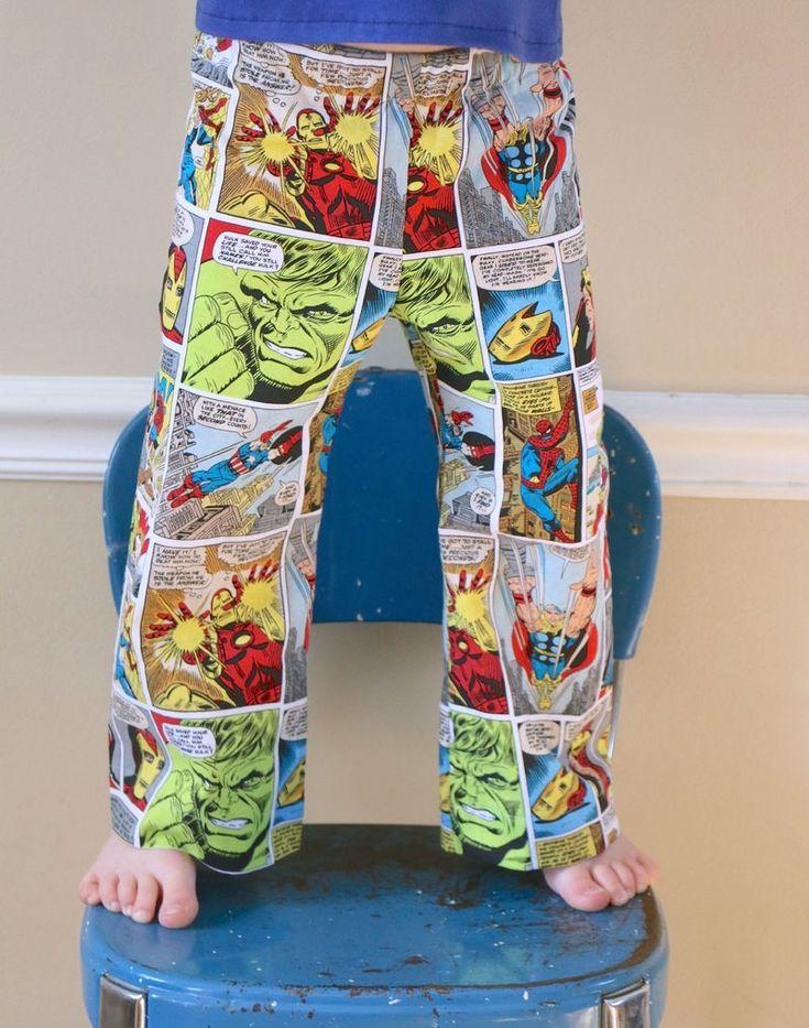 adult super hero pjs for men