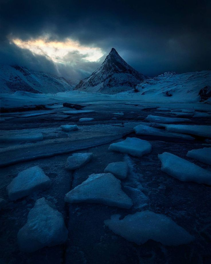 """6,187 Likes, 95 Comments - Max Rive (@maxrivephotography) on Instagram: """"An Icy fjord on the incredible Lofoten Islands, Norway - taken during the Lofoten Aurora tour with…"""""""