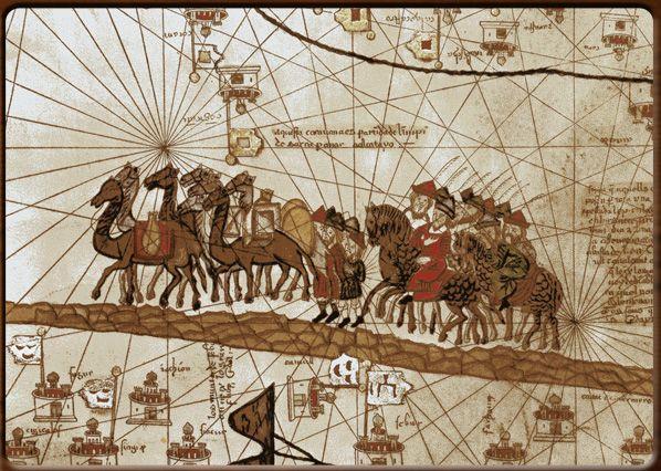 La carovana di Marco Polo, autore francese sconosciuto,1375.