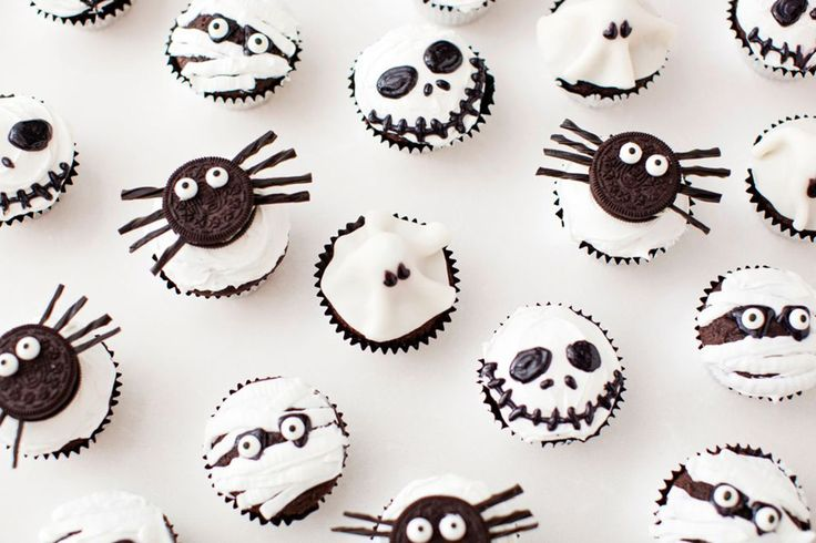 Scare Up These Spooky Monster Cupcakes for Halloween via Brit + Co.