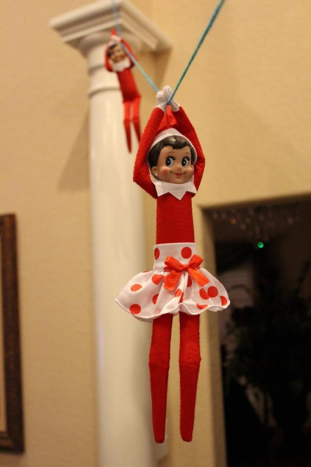 Elf Zip Lining :)