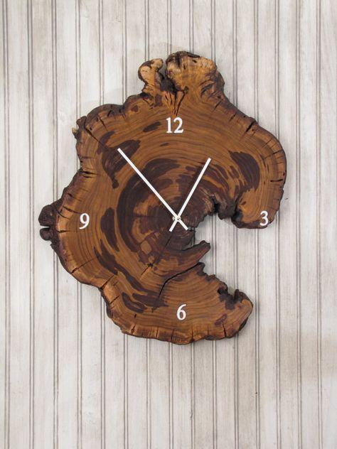 Redbud Wood Clock   Live Edge Reclaimed Tree by MissouriNatureArt, $79.00