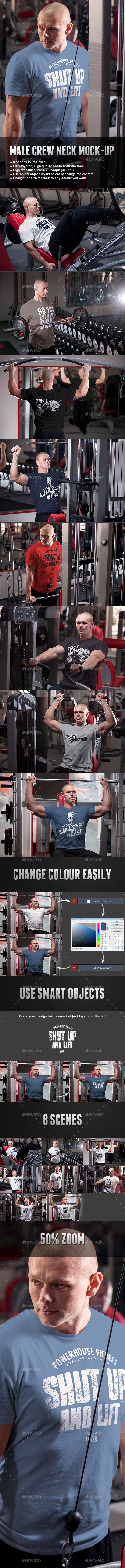 Male Fitness Gym Sport T-shirt Mock-up. Download here: http://graphicriver.net/item/male-fitness-gym-sport-tshirt-mockup/15799056?ref=ksioks