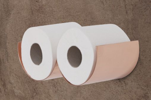 Toilet roll holders - copper