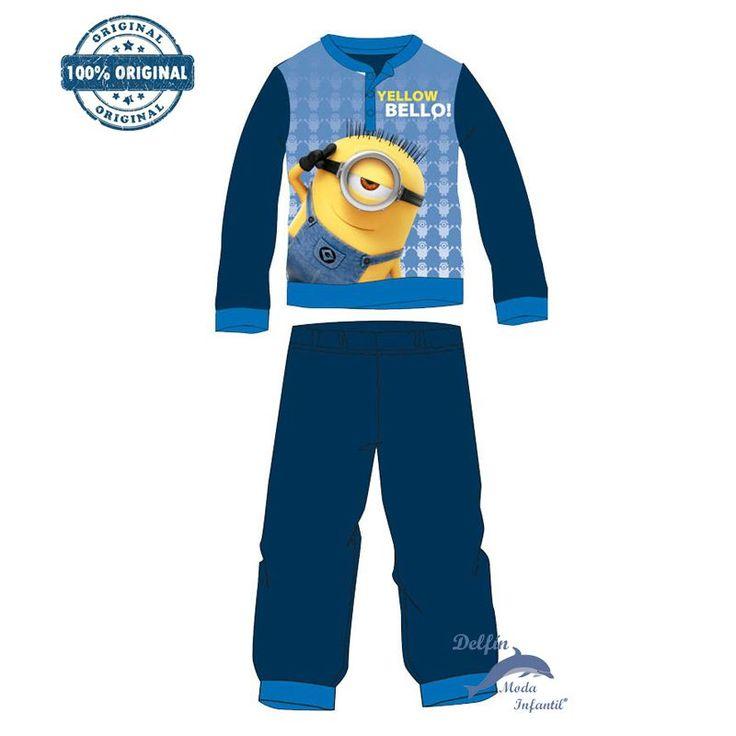 Pijama micropolar MINIONS color marino un muñeco