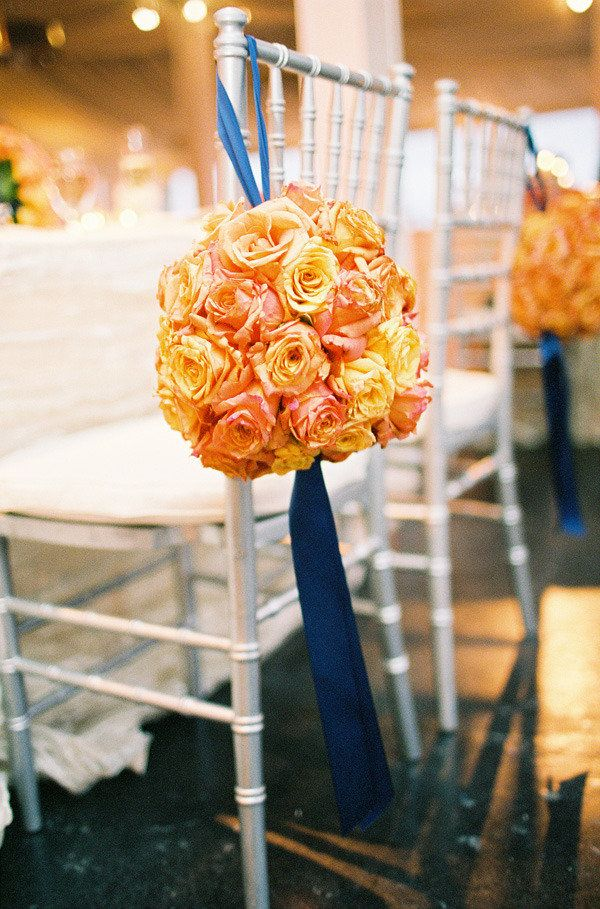 21 best images about style me pretty orange and navy blue - Orange and blue decor ...