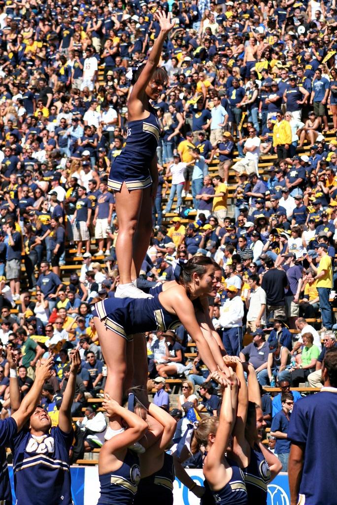 wikiHow to Do a Scorpion Cheerleading Stunt -- via wikiHow.com