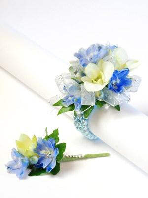 Blue Flower For Prom 81