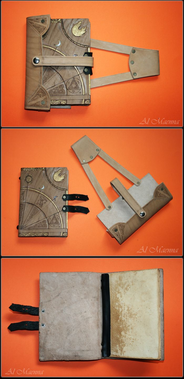 """Shattan on deviantART made this really slick """"Travelling Spell Book"""". I need this in my life."""