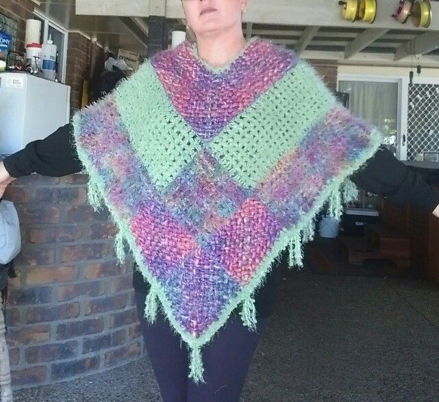 Weave and loom poncho