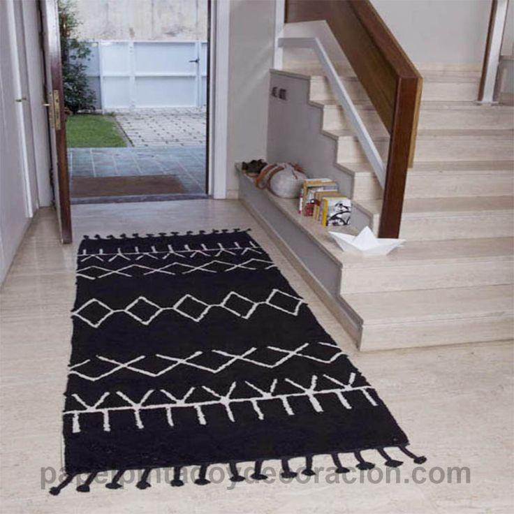 Las 25 mejores ideas sobre alfombra negra en pinterest y - Alfombra lavable lavadora ...