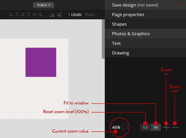 How to #zoom your #design page on @PixTeller.