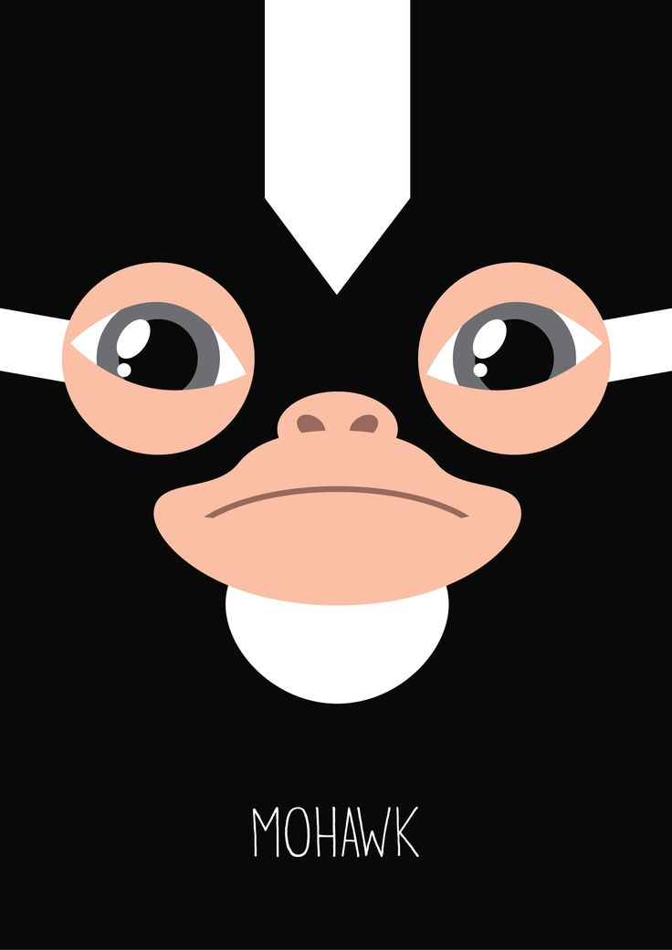 Gremlins Minimalist Series - Mohawk. Available on my Redbubble shop : http://www.redbubble.com/people/mistergamma