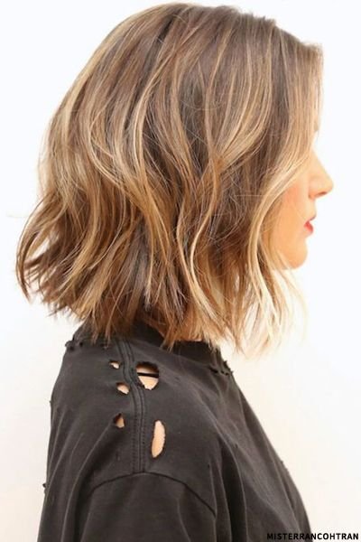 Diggin this trend of slight a-line #bobs that are longer and in the mid length area. Great loose waves