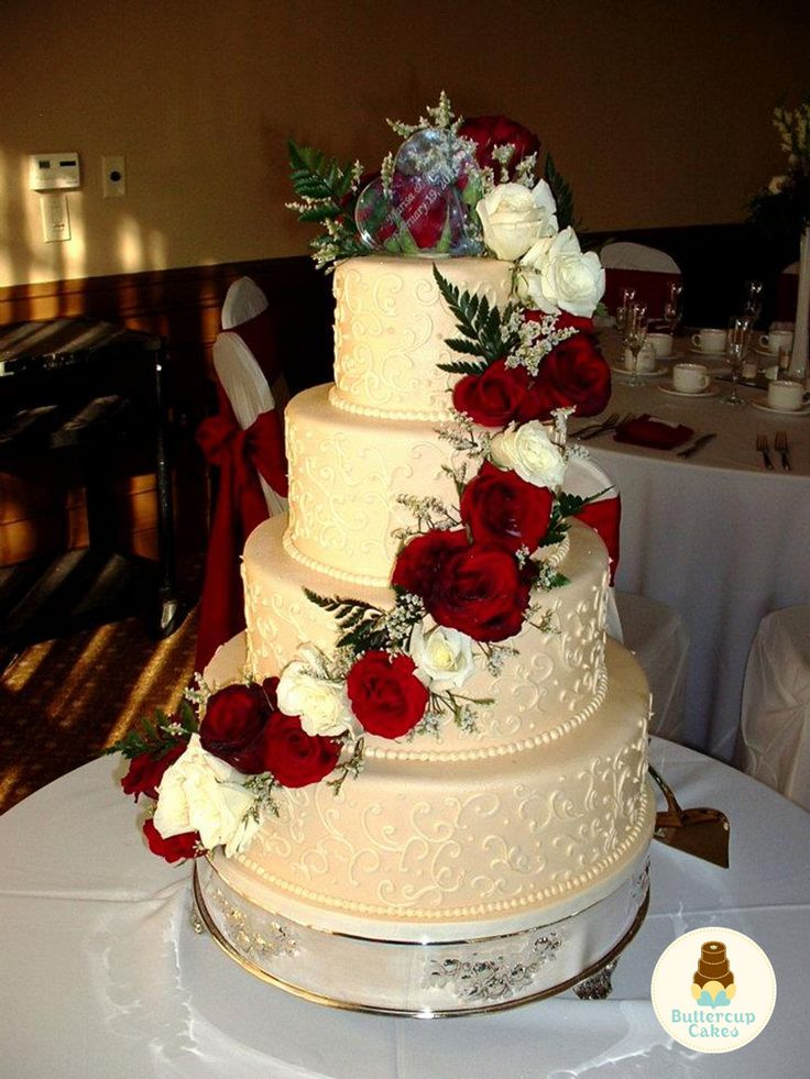 rose wedding cake ideas cupcakes ruby wedding anniversary wedding 19314