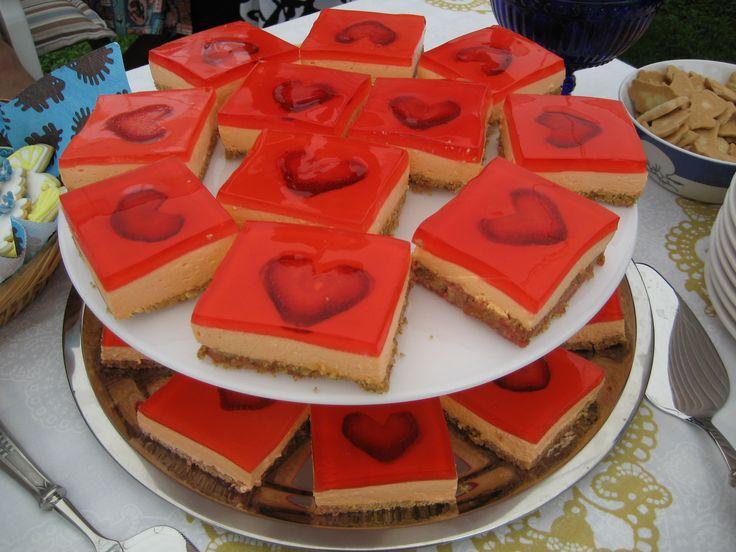 Marsa's Strawberry Heart cakes