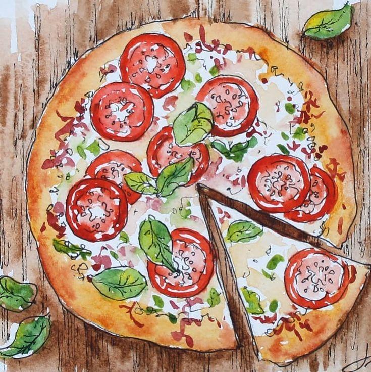Картинки с пиццей рисунок