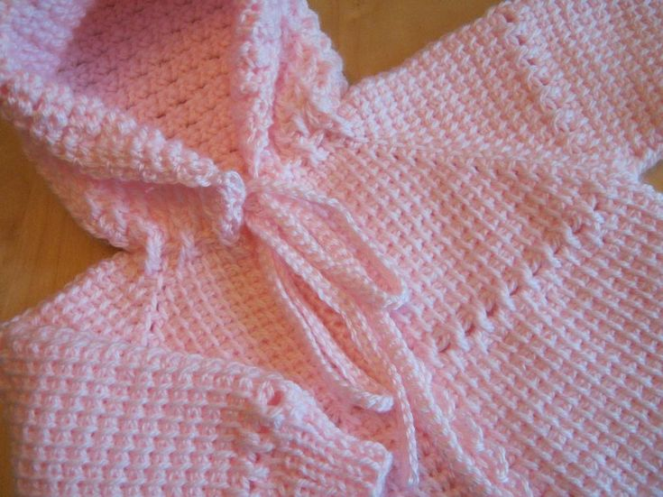 Tunisian Crocheted Baby Sweater