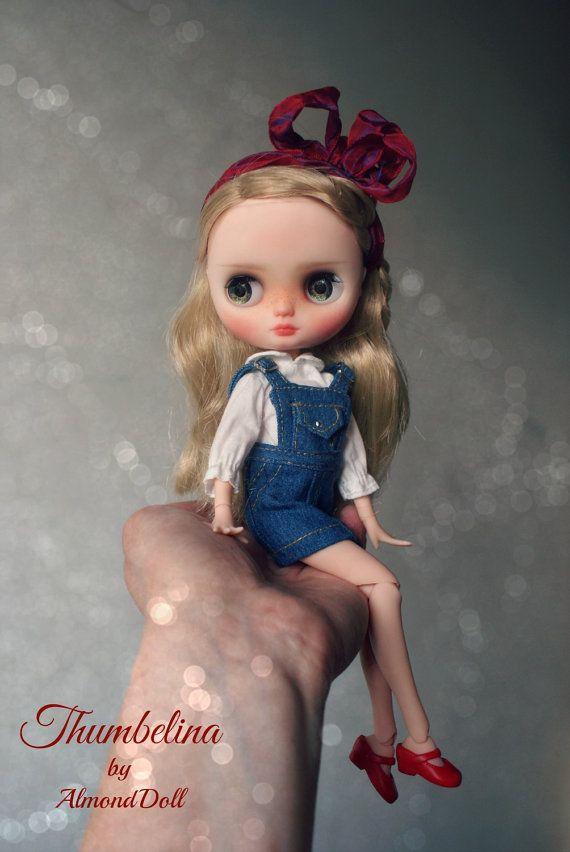 Malenka Custom OOAK Middie blythe panenky jedinečné umělecké panenky