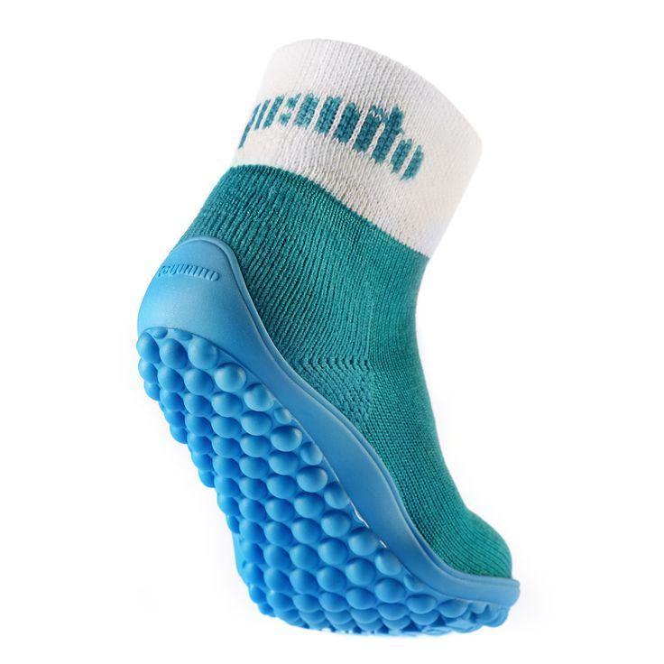 Обувь для ходьбы босиком LEGUANITO бирюзовые (turkis) с голубой подошвой