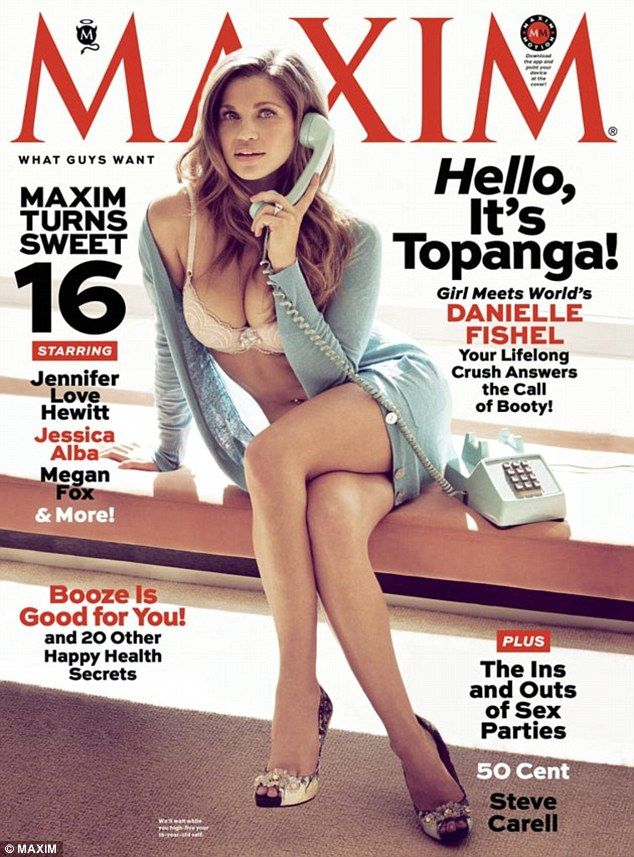 Danielle Fishel poses for Maxims April issue