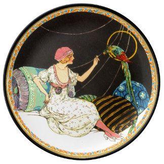 Parrot's Perch Porcelain Plate