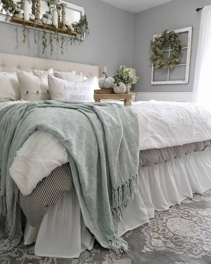 Farmhouse Bed Room Rustic Master Bedroom Master Bedrooms Decor Bedroom Styles