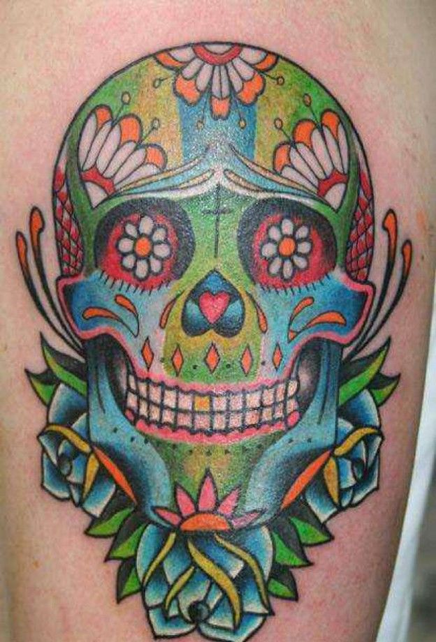 Mexican Sugar Skull Tattoo