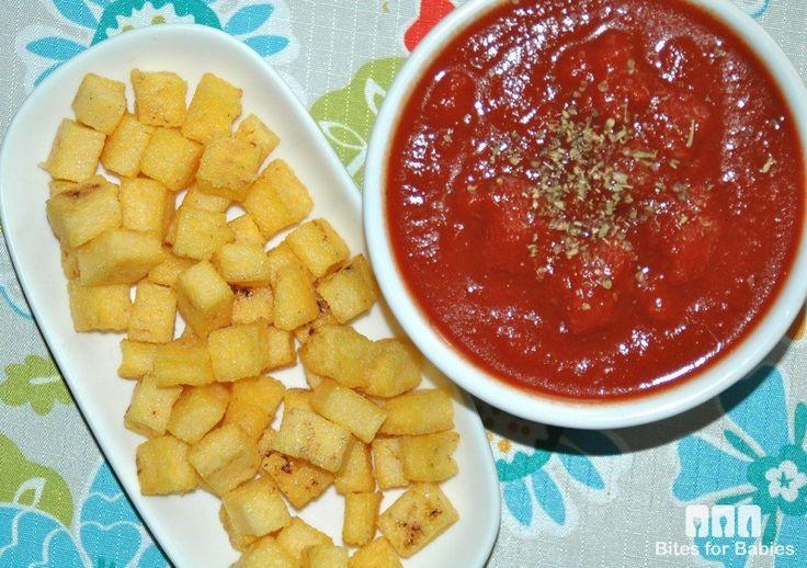 Crispy Polenta Croutons   Recipe   Polenta and Recipe
