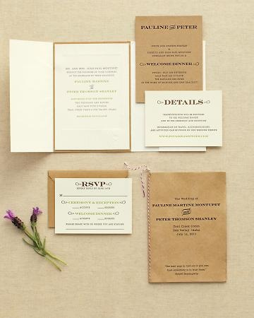 Rustic wedding invitation - Western Touches