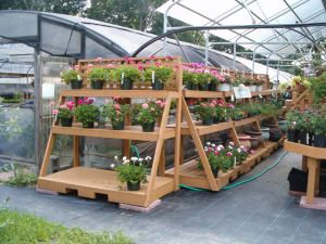 Wood Display Products - Garden Center Makeovers - Bench Systems