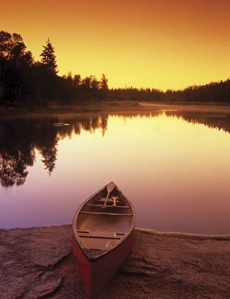 I went out on a lake in a canoe once or twice before. It was fun and I always wanted to do it again!