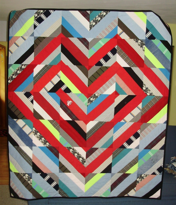 Memory quilt from used clothing at Everyone Deserves a Quilt