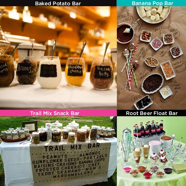 Great food bar ideas for your next party!