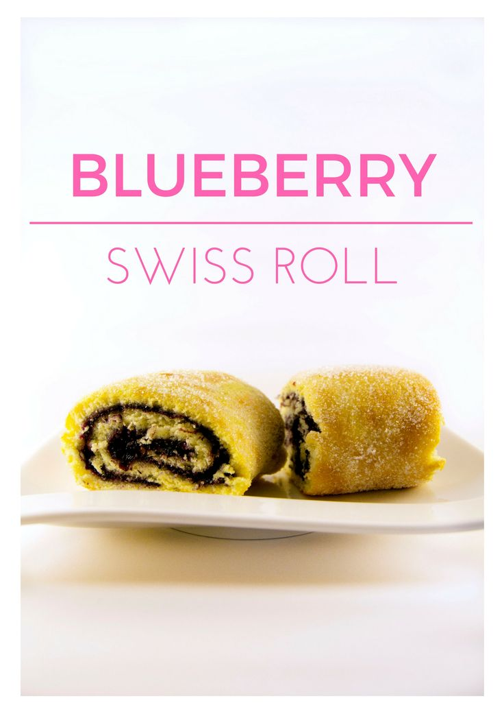 blueberries Swiss roll