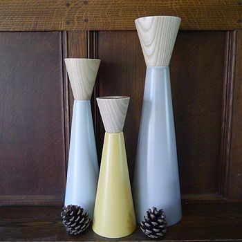 Contemporary Ceramic Candlesticks