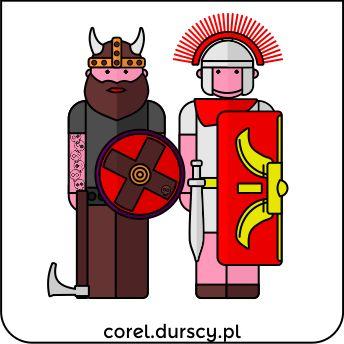 Wiking vs. Rzymianin / Viking vs. Roman   #corel_durscy_pl #durskirysuje #corel #coreldraw #vector #vectorart #illustration #creative #creativity #visualart #visualdesign #graphicdesign #art #digitalart #graphics #flatdesign #artist #inspiration #wiking #rzymianin #viking #barbarians #roman