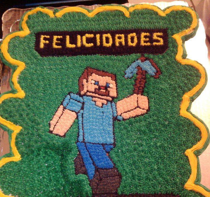 Pastel De Cupcakes Fiesta Minecraft En Mexico