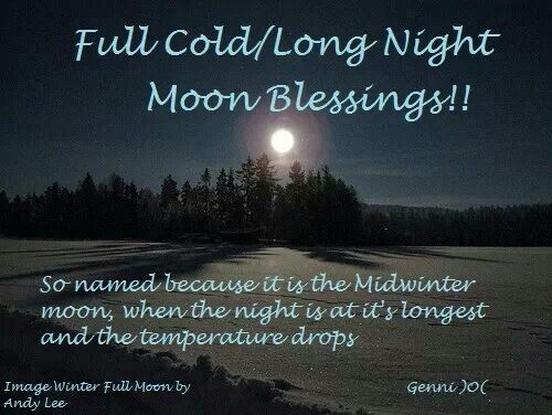 Full cold / long night moon blessing | Wiccan, Witchcraft ...