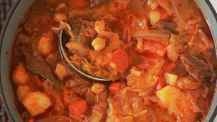 Soupe aux choux et légumes algérienne