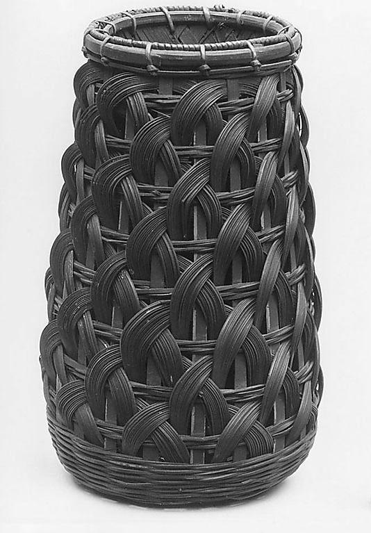 Beautiful black woven basket.