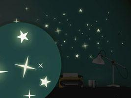 New Leuchtsterne Leuchtende Sterne zum Aufkleben Wandtattoo Leuchtsterne