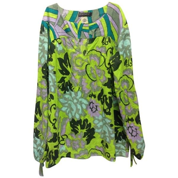 Pre-owned shirt ($105) ❤ liked on Polyvore featuring tops, black, batik top, batik shirt, cotton shirts, shirt top and antik batik