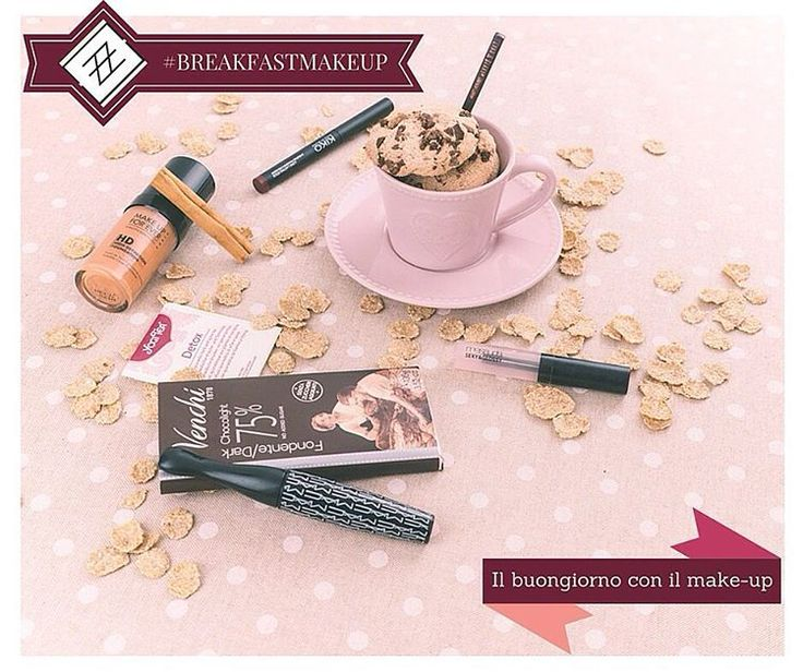#shabbychic per il #breakfastmakeup di oggi - #muotd  #mac #kiko #mufe #lordandberry #mesaudamilano #venchi #yogitea